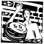 Yonatan Drawings - Yo Yo Maze by Yonatan Frimer Maze Artist