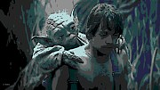 Skywalker Digital Art Posters - Yoda Got Your Back Poster by George Pedro