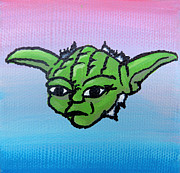 Acrylic Image Paintings - Yoda by Jera Sky