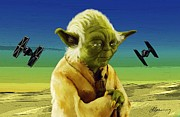 Yoda Framed Prints - Yoda  Framed Print by Michael Greenaway
