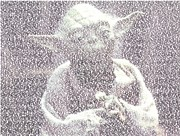 Star Wars Mixed Media Prints - Yoda Quotes Mosaic Print by Paul Van Scott