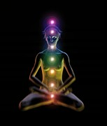 Chakras Photos - Yoga And The Chakras by Jose Antonio PeÑas