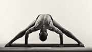 Male Framed Prints Posters - Yoga IX Poster by Angelique Olin