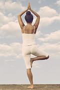 African American Photo Prints - Yoga Print by Joana Kruse