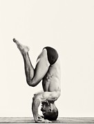 Male Framed Prints Photos - Yoga VII by Angelique Olin
