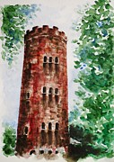 Best Present Prints - Yokahu Tower  Print by Zaira Dzhaubaeva