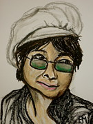 Musicians Pastels Originals - Yoko by Pete Maier