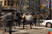 Crowd Scene Art - Yonge and Queen street intersection by Igor Kislev