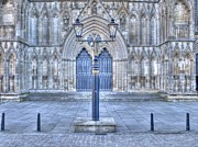 Flag Stones Posters - York Minster West Doors Poster by Allan Briggs