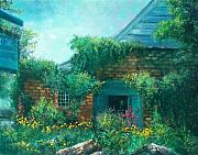 Winery Paintings - York Mountain Winery by Sally Seago