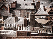 Chimneys Posters - York Rooftops Poster by Barry Teutenberg