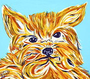 Biographies Framed Prints - Yorki Love Framed Print by Artista Elisabet