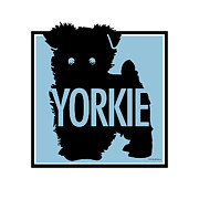 Yorkshire Terrier Digital Art - Yorkie Blue by Geoff Strehlow