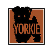 Yorkshire Terrier Digital Art - Yorkie Brown by Geoff Strehlow