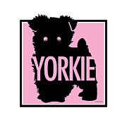 Yorkshire Terrier Digital Art - Yorkie Pink by Geoff Strehlow