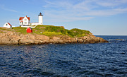 Nubble Lighthouse Framed Prints - Yorks Nubble Light Framed Print by Amy Warnke