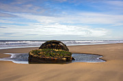 Old Shipwreck Photos - Yorkshire coast by Svetlana Sewell