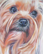 Puppy Paintings - Yorkshire Terrier by Lee Ann Shepard