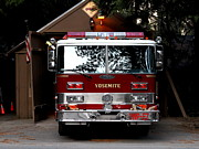 Yosemite California Fire Engine . 7d6142 Print by Wingsdomain Art and Photography