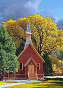 John Haldane Prints - Yosemite Chapel Print by John Haldane