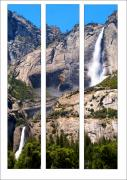 Nevada Falls Photos - Yosemite Falls - Triptych by Mark Wilburn