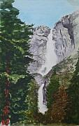 Yosemite Painting Framed Prints - Yosemite Falls 1 Framed Print by Ally Benbrook