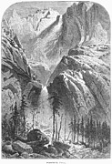 1874 Photo Prints - Yosemite Falls, 1874 Print by Granger