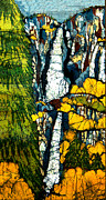 Landscapes Tapestries - Textiles - Yosemite Falls by Alexandra  Sanders