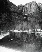 Mariposa County Prints - Yosemite Falls and Merced River Yosemite National Park CA Print by Troy Montemayor