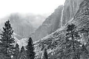 Yosemite Falls Metal Prints - Yosemite Falls In Winter Metal Print by Stephen  Vecchiotti