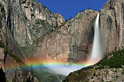 Colored Photo Posters - Yosemite Falls Poster by Jean Day Landscape Photography