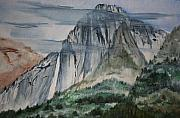 Julie Lueders Artwork Originals - Yosemite Falls by Julie Lueders