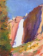 National Parks Paintings - Yosemite  Falls by Timothy Chambers