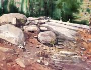 Plein Air Art - Yosemite Granite 75 by Donald Maier