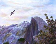 Dome Paintings - Yosemite Half Dome by Judy Filarecki