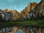 National Parks Paintings - Yosemite National Park 1 by Carlene Salazar