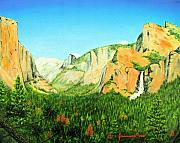 El Capitan Painting Prints - Yosemite National Park Print by Jerome Stumphauzer