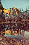 Yosemite Falls Metal Prints - Yosemite Reflection Metal Print by Irene Y.