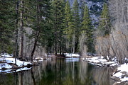 Swinging Bridge Photos Photos - Yosemite Reflections by Christine Owens