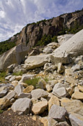 Rock Pile Prints - Yosemite Rockslide Print by Bonnie Bruno