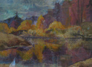 Reflections In River Prints - Yosemite Valley Print by Bonnie Rosen