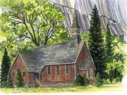 Chape Framed Prints - Yosemite Valley Chapel Framed Print by Mark Jennings