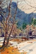 Yosemite Painting Originals - Yosemite Valley in Winter by Donald Maier