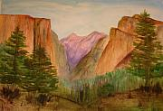 Julia Lueders Paintings - Yosemite Valley by Julie Lueders