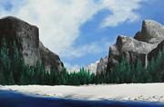 El Capitan Painting Prints - Yosemite Valley Print by Robert Plog