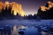 Howell Posters - Yosemite Valley Sunset Poster by Michael Howell - Printscapes