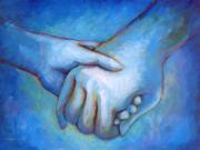 Blue  Paintings - You and Me by Angela Treat Lyon