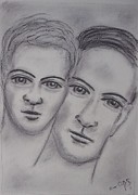 Man And Woman Drawings - You and me by Conor Rafferty