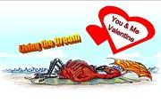 You And Me Valentine Print by Carol Allen Anfinsen