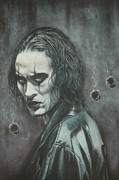  Brandon Lee Framed Prints - You are all going to Die Framed Print by Tom Davidson